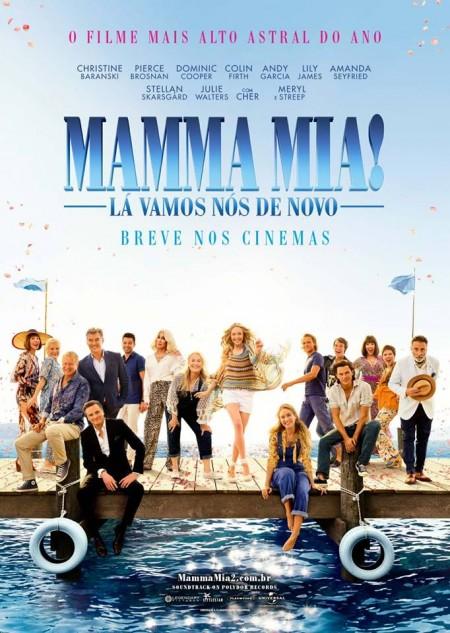 Poster do filme Mamma Mia! Lá Vamos Nós de Novo