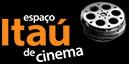 Logotipo Itaú Cinemas: rolo de fita de cinema ao lado do texto em cinza Espaço Itaú de Cinema, com a palavra Itaú em laranja